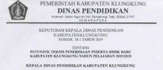 Petunjuk Teknis PPDB Kabupaten Klungkung Tahun 2019