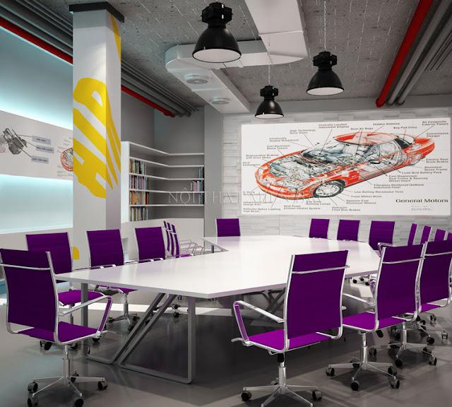 Thiết kế nội thất phòng họp sử dụng thiết kế bàn ghế phòng họp khác biệt