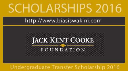 Undergraduate Transfer Scholarship 2016