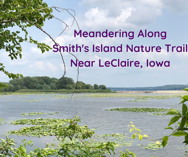 Scenic Views, Nature and History Hiking Along Smith's Island Nature Trail near LeClaire, Iowa