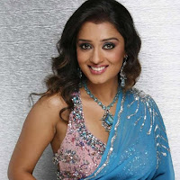 Nikitha photoshoot in icy blue saree