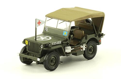 JEEP WILLYS MB 1:43, voitures militaires de la seconde guerre mondiale