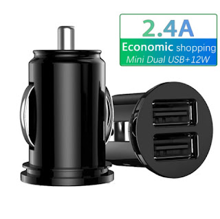 2.4A 5V Dual USB car charger 2 port Cigarette