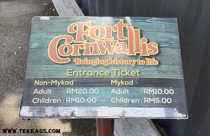 Fort Cornwallis-Your Tickets Price