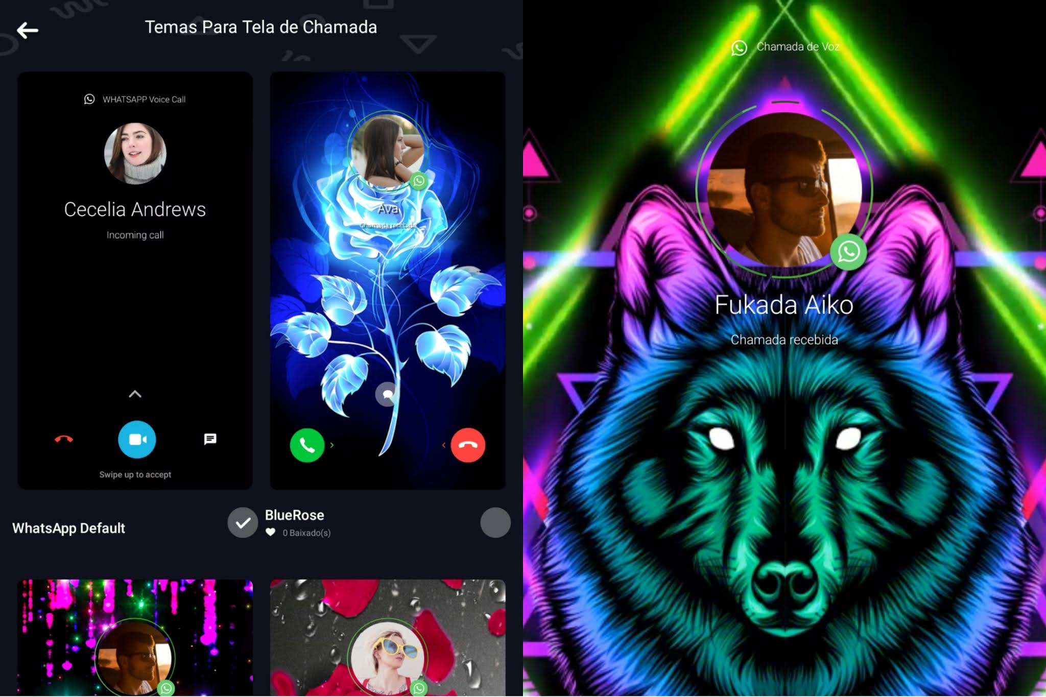 themes for YoWhatsApp 2021 call screen updated