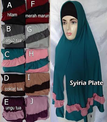 Grosir Jilbab Syiria Plate