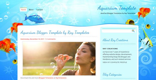 FREE Aquarium Blogger Template