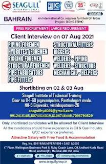 International Company Free Recruitment for Bahrain