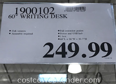 Deal for the Northridge Home 60-inch Writing Desk at Costco