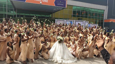 Guiness book of records Highest number of bridesmaids at a wedding
