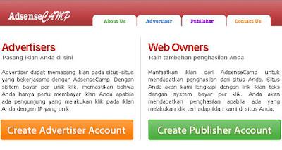 Cara Daftar AdsenseCamp lengkap | Dapat uang dari internet