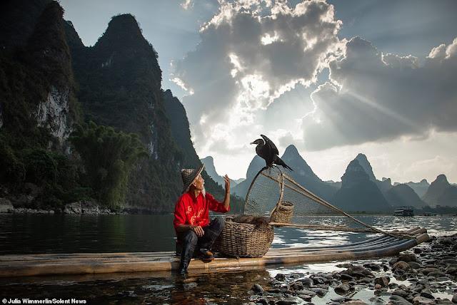 Ảnh đẹp Lão Ngư phủ tại sông Lệ Giang, Trung Quốc 9