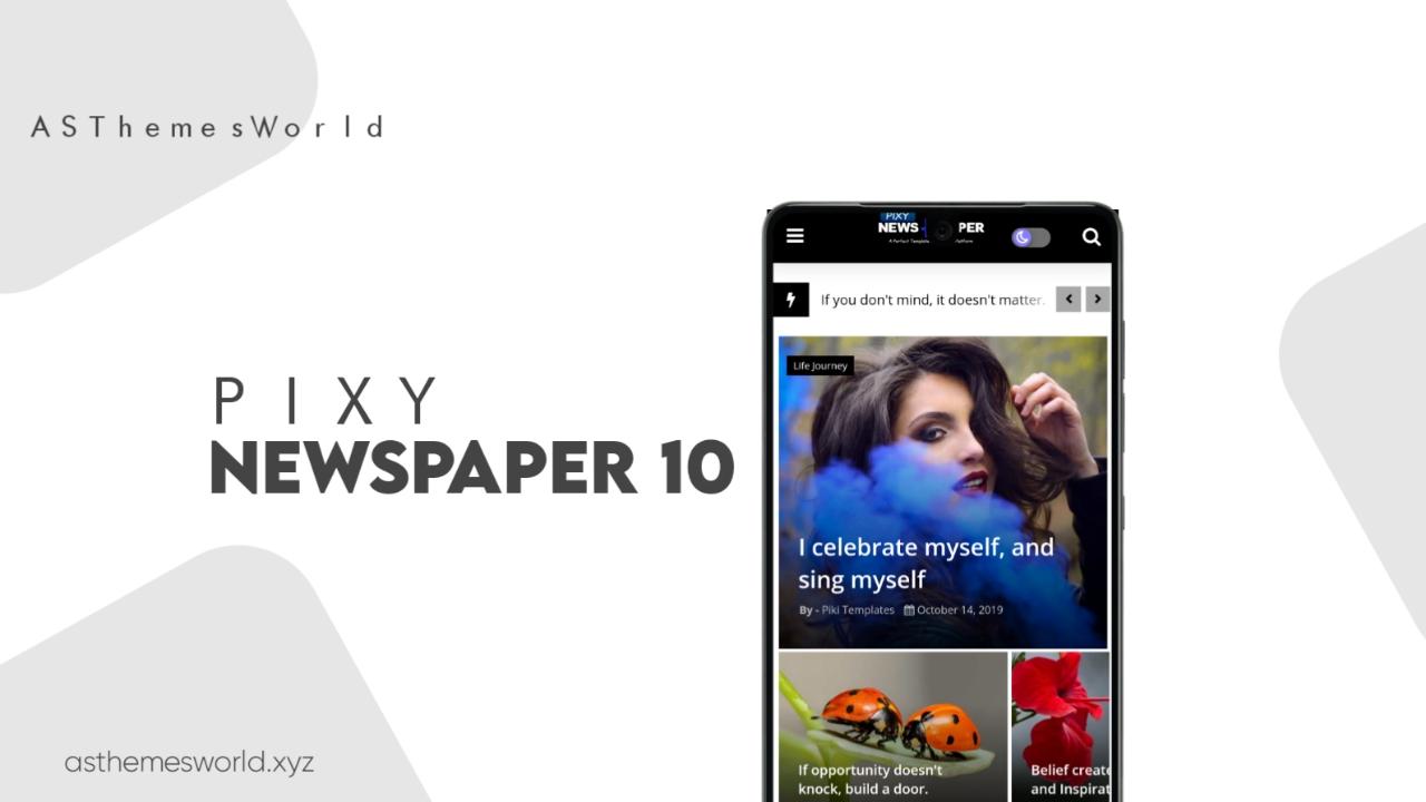 Pixy Newspaper 10 Blogger Template