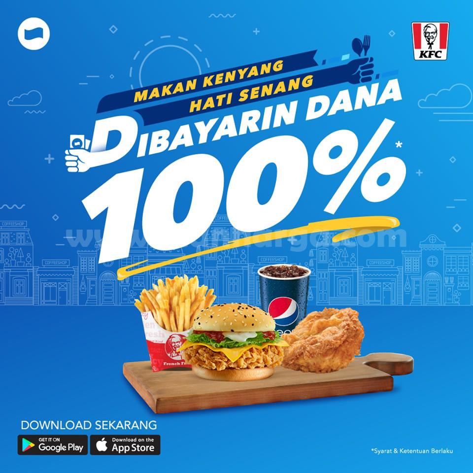 Promo KFC Pake DANA Cashback Hingga 100% Edisi 10 - 30 Juni 2019