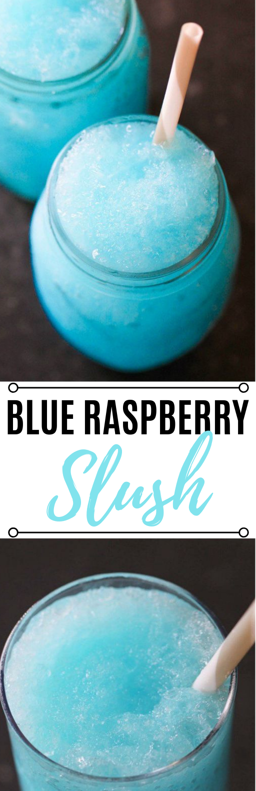 Blue Raspberry Slush #summer #drinks