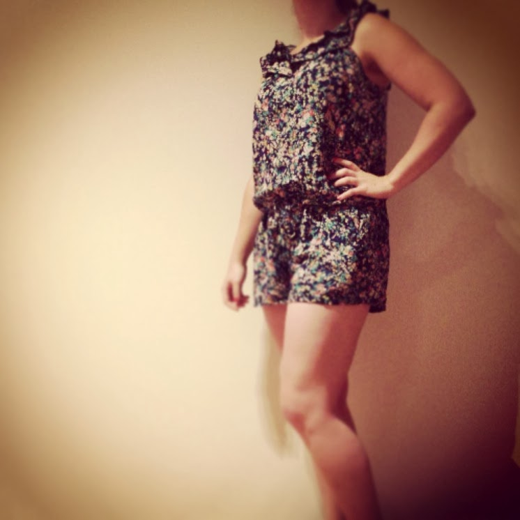 Filo one piece short play suit, $5I look like a bit of a muffin but have  always wanted a play suit, so I thought I could sacrifice $5 to the cause.