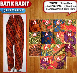 Jual celana panjang pria murah motif batik terbaru trend 2016