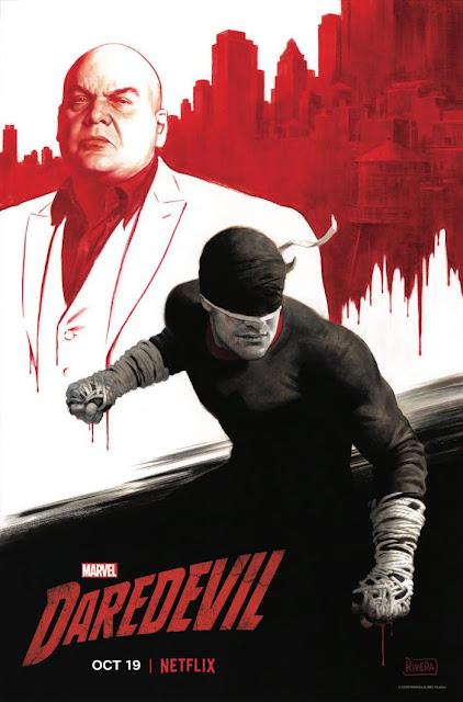 """Póster para el NYCC de la tercera temporada de """"Marvel's Daredevil""""."""