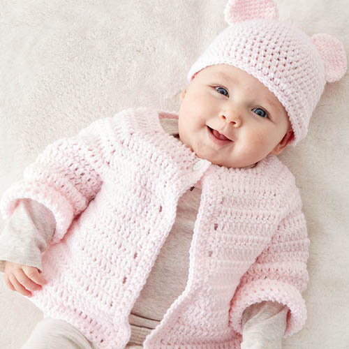 Crochet Baby Jacket Set - Free Pattern