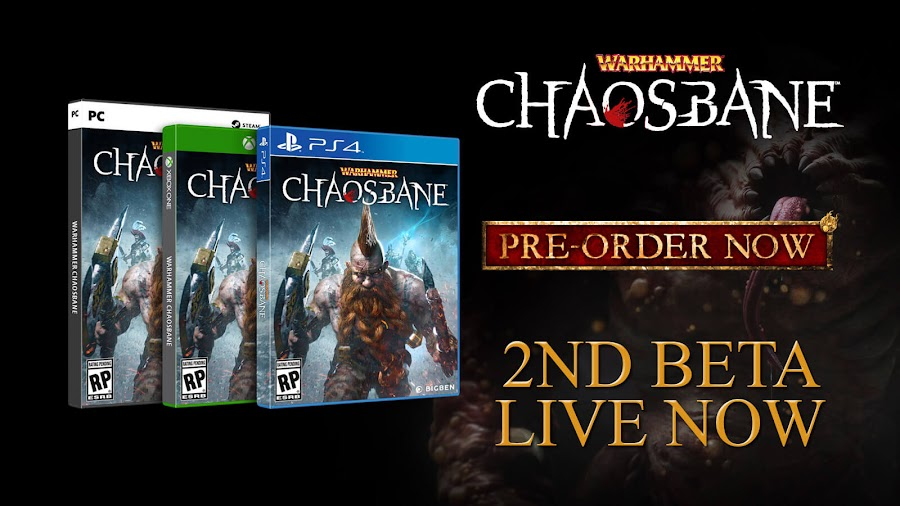 warhammer chaosbane second closed beta live now