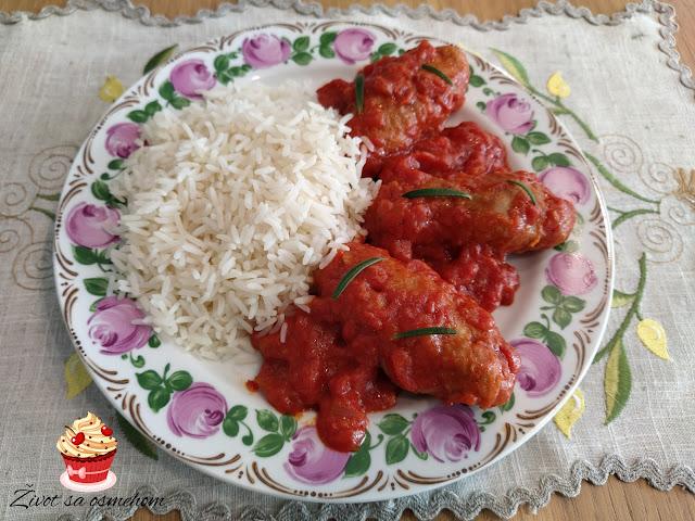 Grčke ćufte u paradajz sosu - Soutzoukakia