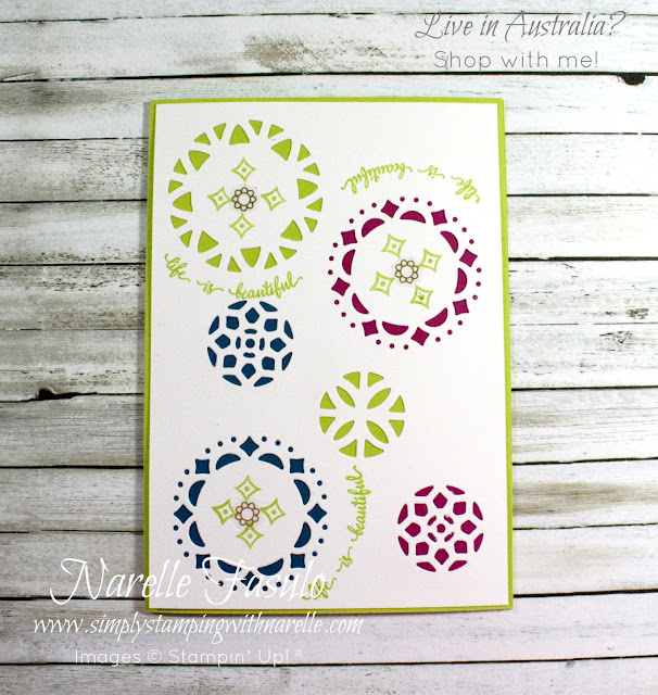 Get projects kits  with full colour instructions for projects like this in my Stamping By Mail Classes - see whats on offer this month here - http://www.simplystampingwithnarelle.com/p/stamping-by-mail.html