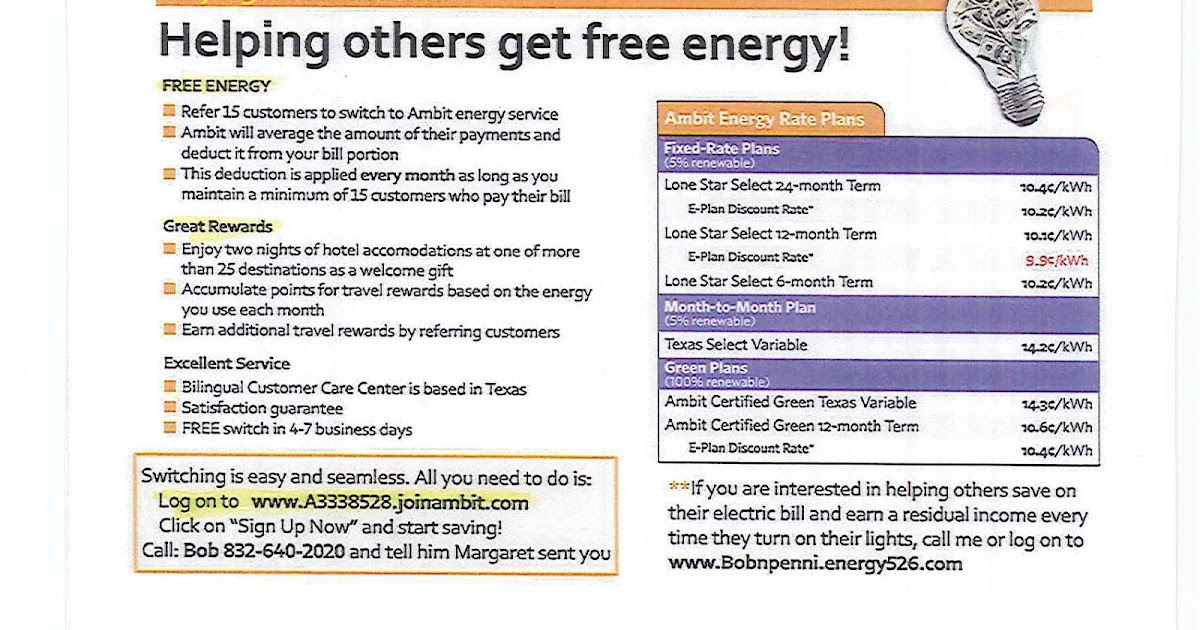 Promotional offers switch to ambit energy for Ambit energy business card template