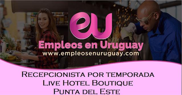 Recepcionista por temporada - Live Hotel Boutique - Punta del Este
