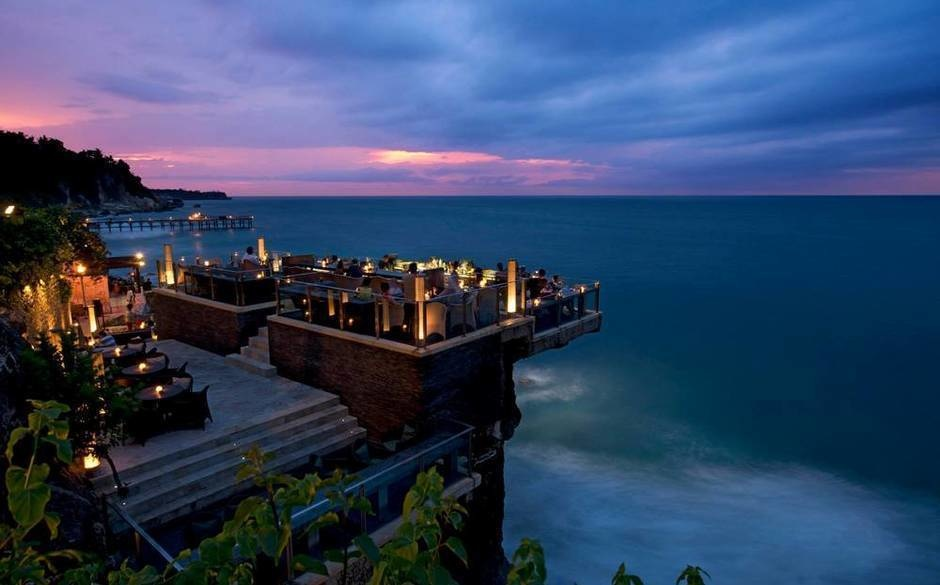 The World's 30 Best Rooftop Bars… Everyone Should Drink At #9 At Least Once. - The Rock Bar is the perfect place to watch the waves in the AYANA Resort and Spa in Bali, Indonesia.