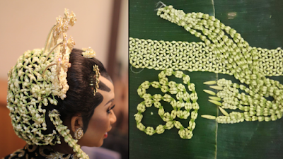 bunga melati untuk kecantikan pengantin wanita
