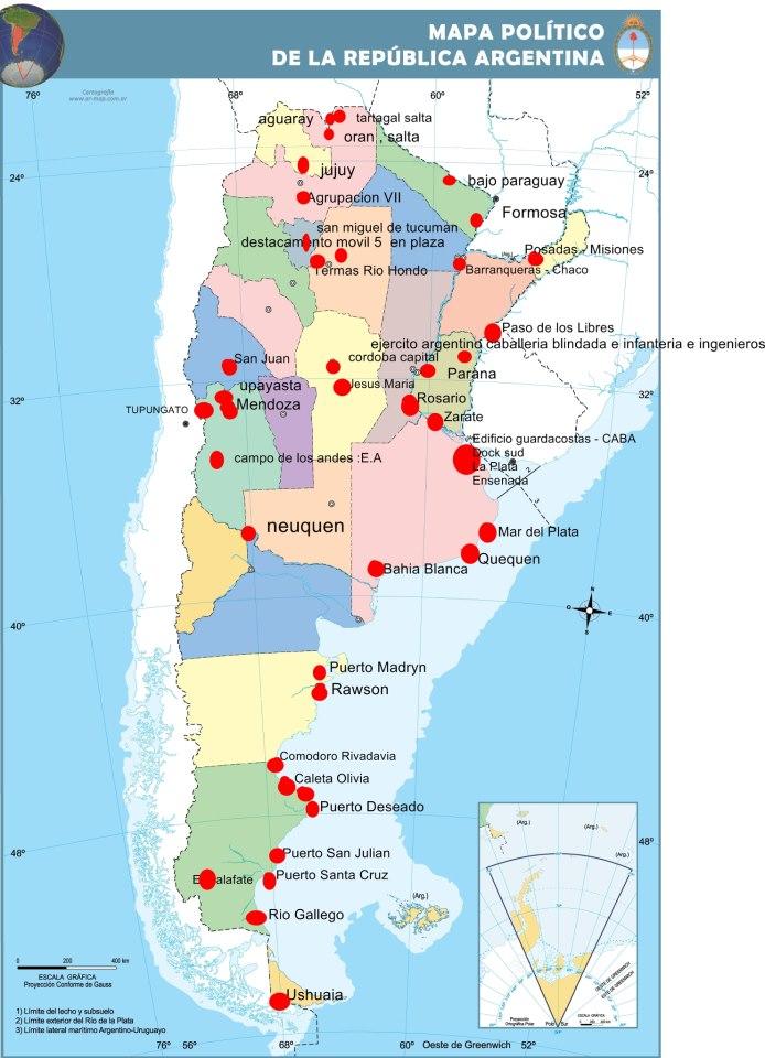 Diario pregn de la plata 03 oct 2012 mapa de los levantamientos en argentina al da 3 de octubre de 2012 actualizado a las 2130 hs thecheapjerseys Choice Image