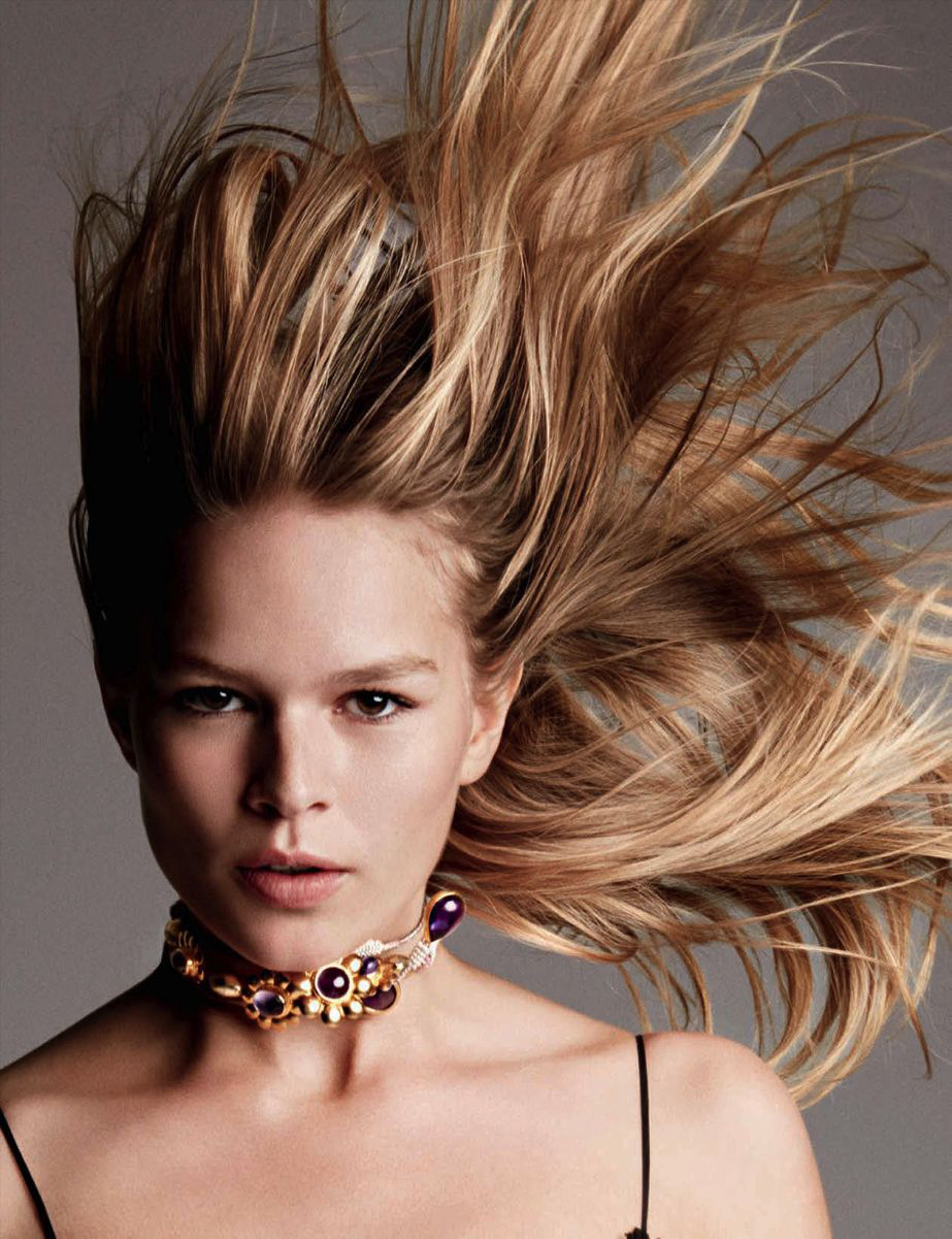 Anna Ewers By Karl Lagerfeld For: Miss Flora: Anna Ewers By Patrick Demarchelier For Vogue