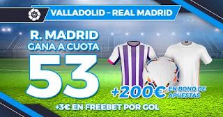 Paston Megacuota Valladolid vs Real Madrid 20-2-2021