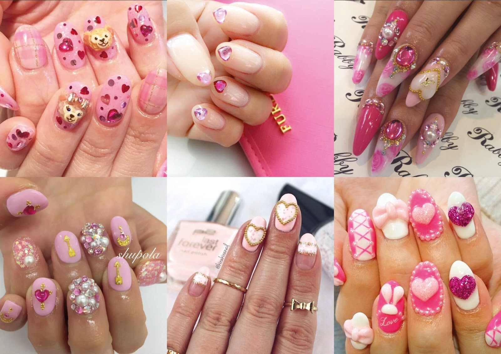 kawaii gyaru nails, false nails, Japanese nail art