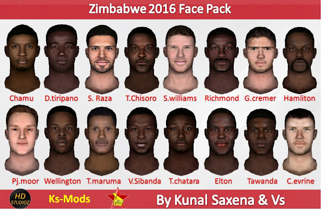 HD studioz Zimbabwe Facepack 2016 For Cricket 07