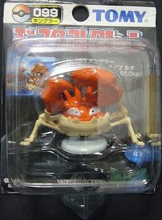 Kingler Pokemon figure Tomy Monster Collection black package series