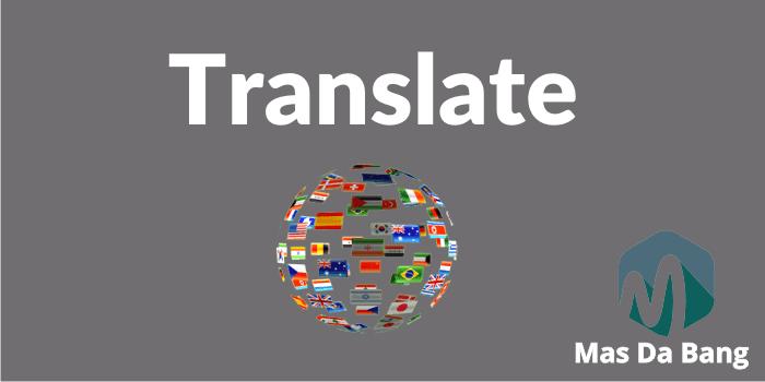 Memasang Widget Google Translate Keren