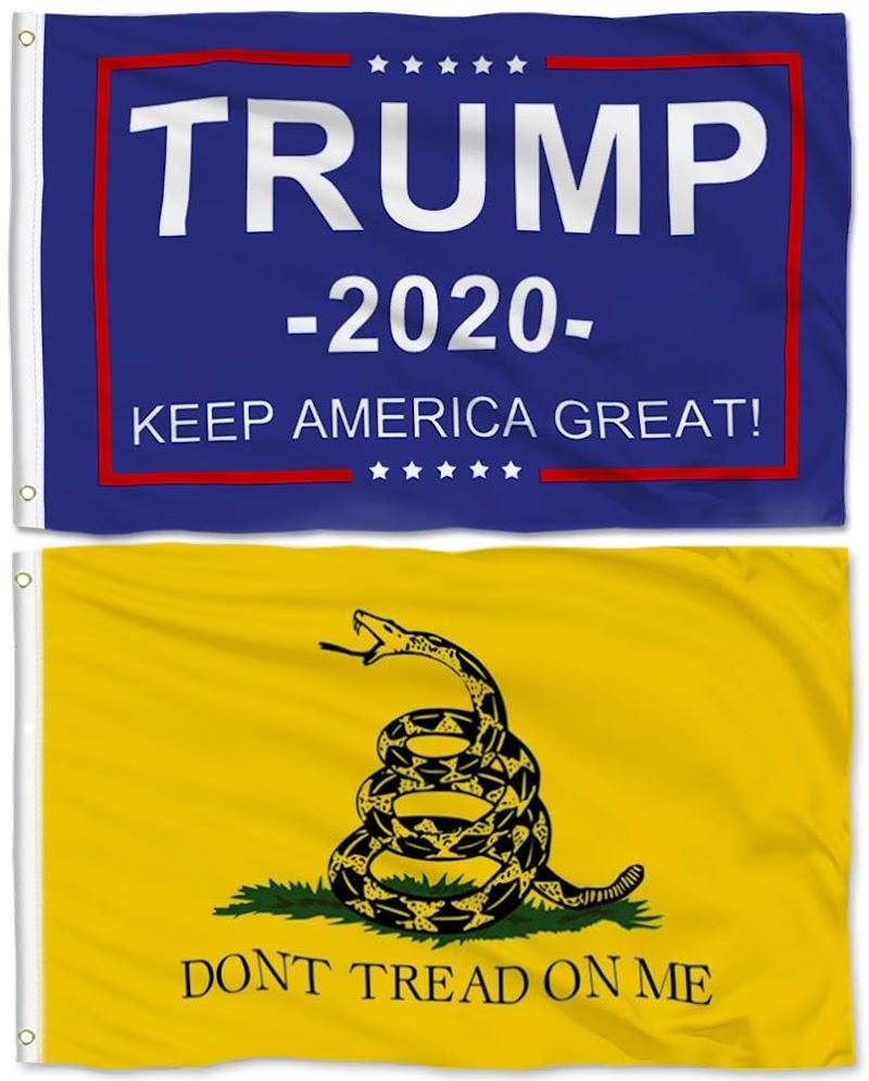 40% OFF  2 Pieces 3x5 Feet Donald Trump Flag and Gadsden Flag