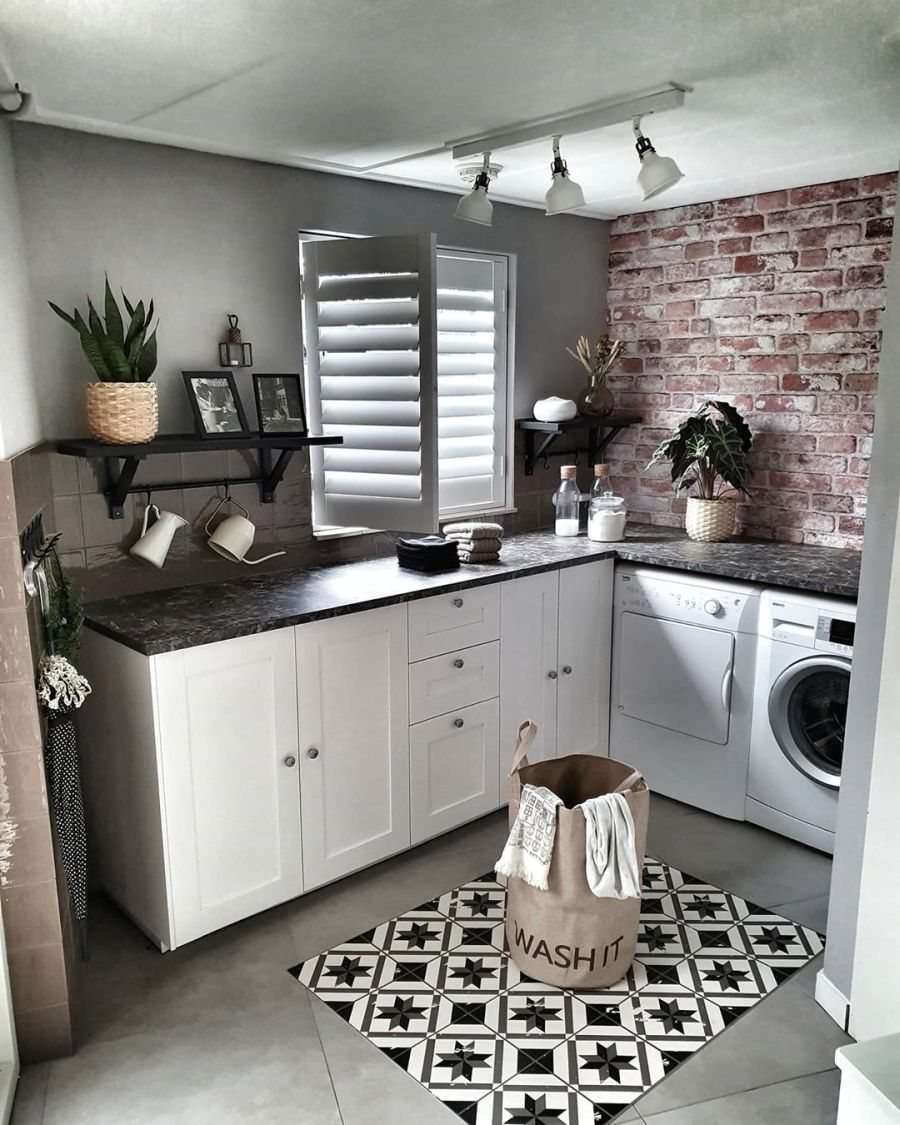 Aranżacja w indywidualnym stylu, wystrój wnętrz, wnętrza, urządzanie domu, dekoracje wnętrz, aranżacja wnętrz, inspiracje wnętrz,interior design , dom i wnętrze, aranżacja mieszkania, modne wnętrza, styl loftowy, loft, styl skandynawski, Scandinavian style, styl industrialny, industrial style, vintage,pralnia, laundry room
