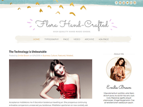 Flora Hand Crefted - Responsive Blogger Template