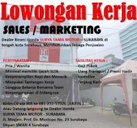 Lowongan Kerja di Dealer Honda Surya Tama Motor Surabaya April 2021