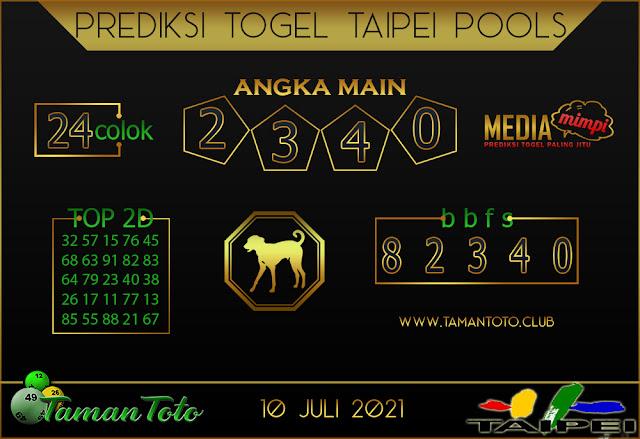Prediksi Togel TAIPEI TAMAN TOTO 10 JULI 2021