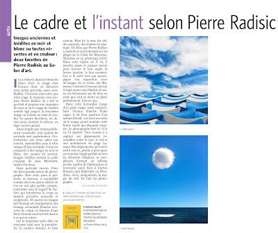 Pierre Radisic, article de Jean-Marie Wynants, Le Soir du 2 septembre 2020