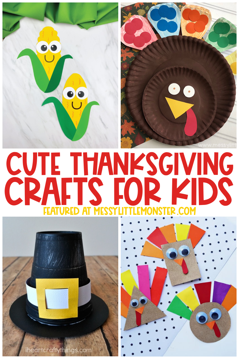 Cute and easy Thanksgiving crafts for kids