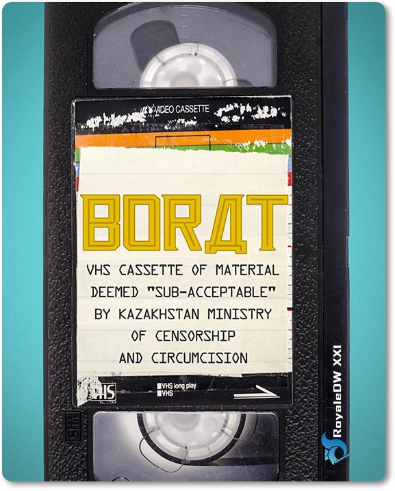 BORAT: VHS CASSETTE OF MATERIAL DEEMED 'SUB-ACCEPTABLE' BY KAZAKHSTAN MINISTRY OF CENSORSHIP AND CIRCUMCISION (2021)