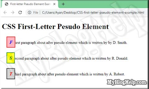 CSS-first-letter-pseudo-element-example