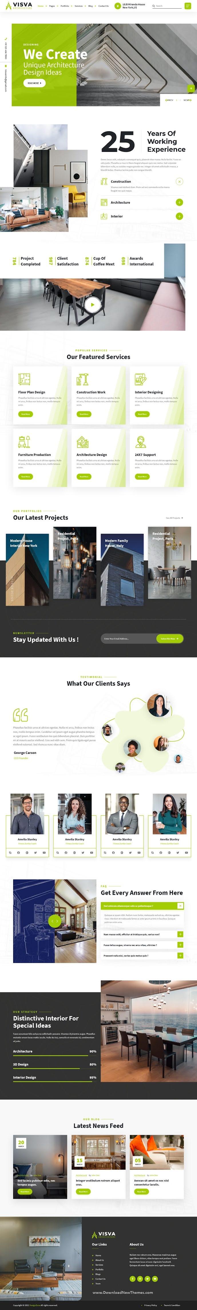 Architect & Interior Design Bootstrap 5 Template