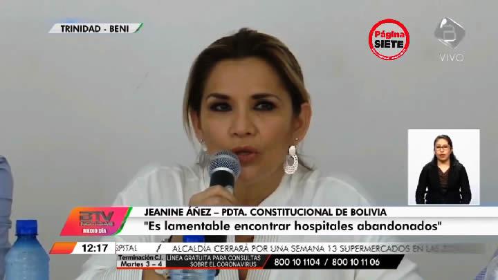Presidenta Áñez siente impotencia al ver hangares lujosos, palacetes y museos innecesarios del gobierno de Evo