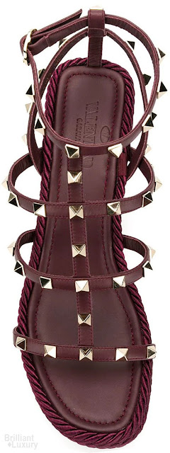 Brilliant Luxury♦Valentino Garavani Rockstud Torchon wedge sandals