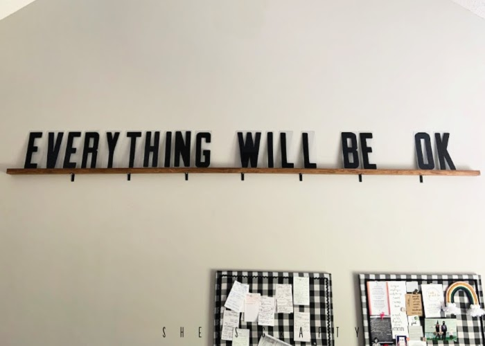 How to make a Marquee Letter Shelf  |   everything is going to be ok